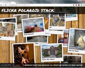 Flickr Polaroid Stack