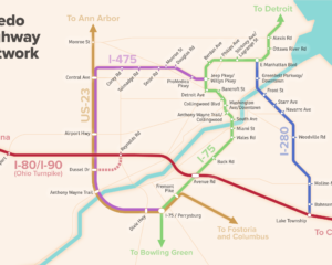 Toledo's Highways as a Subway Map