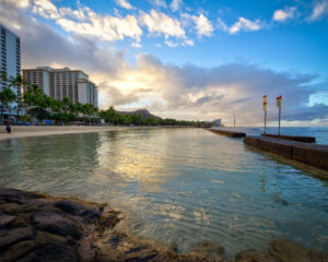 Morning walk in Waikiki
